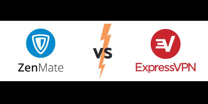 Zenmate vs express VPN Icon
