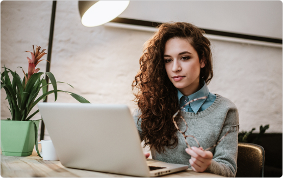 woman surfing on the web with VPN service